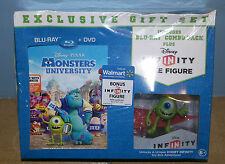 Bluray Monsters University (2-Disc Blu-ray + DVD + Infinity Mike Figure) NEW US
