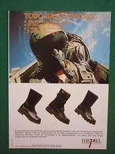 5/1991 PUB IMEPIEL BOTAS CHAUSSURES PILOTE HELMET CASQUE EJERCITO SPANISH  AD