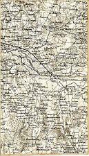 Vonnas St-Jean-Veyle St-Cyr 1889 carte état-major s toile orig. Sulignat Biziat
