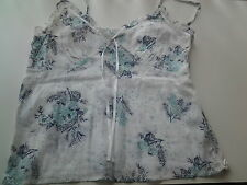 RUE 21 WHITE FLORAL COTTON STRAPPY TOP 8/10