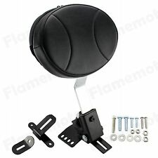 Plug In Driver Rider Backrest Kit For Harley Electra Road Street Glide Road King