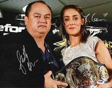 Scott Coker & Marloes Coenen Signed 11x14 Photo PSA/DNA COA Bellator StrikeForce
