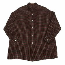 Y's for men Plaid Weave Long Sleeves Shirt Size About  M(K-39097)