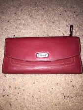 Fossil Womens Wine /Mauve Wallet