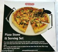 Apollo Pizza Stone & Serving Set Kitchen Traditional Easy to Clean Brand New