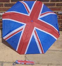 Bandera de la Unión Paraguas Plegable Ideal Bolso dentro de Mac Bolsillo Etc..