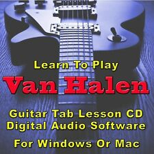VAN HALEN Guitar Tab Lesson CD Software - 133 Songs