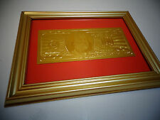 24 KT 999.9% GOLD USA *2009 *$100 DOLLAR BILL -*FRAMED- LIMITED PRODUCTION, RARE