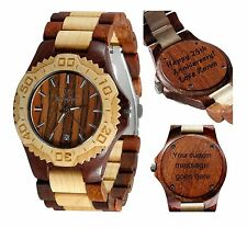 Wooden Watch by Gassen James - Wooden watch with Free Custom Engraving - Gamma I