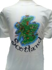 T-Shirt Scotland UK Flag Clans of Scotland printing Both Sides 100% Cotton, L