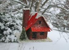 Vintage Style Cody Foster Little Brown 2 Story Log Cabin Christmas Ornament