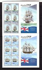 GIBRALTAR - SG1268-1273 MNH 2008 RN SHIPS IN TRAFALGAR BATTLE - SHEETLETS