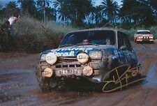 Jean Ragnotti Hand Signed Photo 12x8 Renault Rally 1.