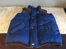 Joules BoyS  Thick  Padded Body Warmer Gillet   5 Years  Blue Brown Winter Warm