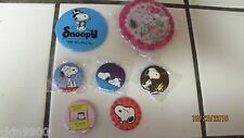 Vintage Peanuts Charlie Brown Snoopy Pin Pendant Set of 7