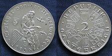 MONETA COIN AUSTRIA REPUBLIK ÖSTERREICH 2 SCHILLING 1930 ARGENTO SILVER SILBER