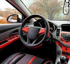 """RED Carbon Fiber Texture Decorative Decal Bubble Free Air Release Sticker 15x39"""""""