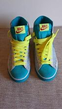 "Women's Nike Gray/Turquoise ""Blazer High"" Lace-Up Tennis Shoe, Size 6 Medium"
