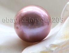 Loose pearl Natural 13.3mm Round Lavender Edison Reborn Keshi  Pearl  #m10