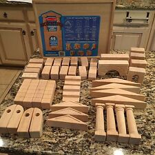 Wooden Toy Block Set Melissa & Doug Architectural Unit  43 pcs