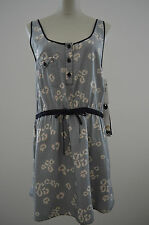 NWT $88 Quiksilver Roxy SMALL S Cotton Silk Animal Cutout Summer Dress Sundress