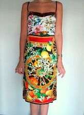 Dolce & Gabbana Flowers And Lemons Silk Dress