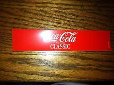 """Coca-Cola Classic Vending Machine Insert, Red, 7.0"""" x 1.5"""""""