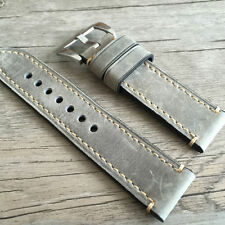 Leather strap in 24mm - Grey leather in 24/24mm for your Panerai