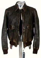 Burberry Brit Burnished Leather Bomber Jacket EU48 Medium Approx. £1495 Brown