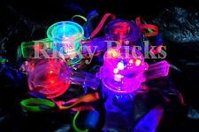 12 PCS Light Up Whistles LED Flashing Blinking Favors Rave Lanyard Whistle EDC