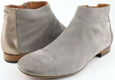 NOW 4875 Stone Oiled Suede Designer COMFORT Round Toe Ankle Boots 8.5 EUR 38.5