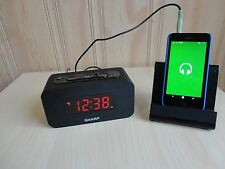 SHARP 9'' Big Digital Alarm Clock with Bluetooth Speaker ,3.5mm,Easy To Use.