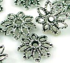 25 Silver Pewter Caps 10mm Beads ~ Lead-Free ~