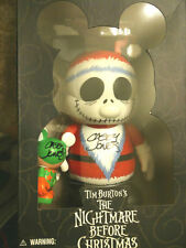 "NW Disney Nightmare Before Christmas 3"" 9"" Vinylmation 2PC Set Jack Santa SIGNED"