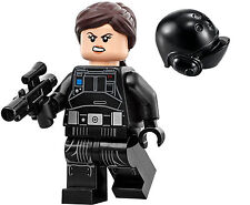 LEGO STAR WARS ROGUE ONE MINIFIGURE JYN ERSO IMPERIAL CREW DISGUISE HAIR 75154