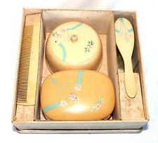 VINTAGE CELLULOID VANITY SET FOR DOLLS OR BABY GIRLS. VISIT MY COLLECTION
