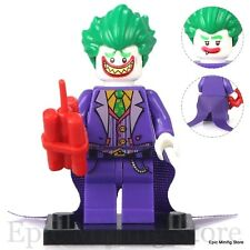 Custom Joker 2017 Batman Movie DC Comics Minifig fits with Lego pg100 UK Seller