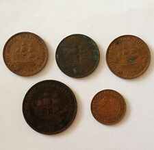 South Africa union 1934, 45, 51, 54, 55 various coins