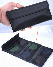 Multipurpose Wallet Bag Case 6-Pocket for Lens Filter 25mm-77mm UV CPL ND Filter