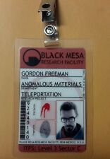 Portal ID Badge - Black Mesa Gordon Freeman w/pic cosplay prop costume