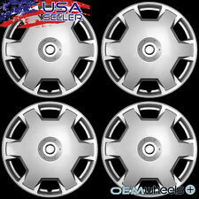 "4 NEW OEM SILVER 15"" HUB CAPS FITS 2007-CURRENT NISSAN VERSA WHEEL COVERS SET"