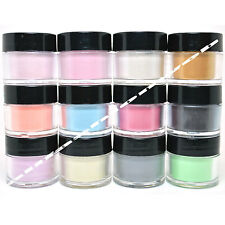 FULL 12 MIA SECRET NAIL ART PEARL ACRYLIC 3D POWDER COLLECTION - MIA12PEARL