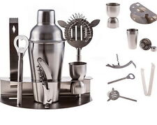 Bartender Shaker Cocktail Bar Set Mixer Steel Stainless Martini Tools Drink Kit