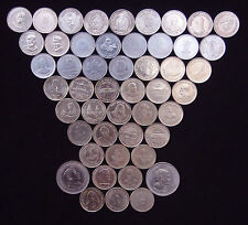 5 RUPEE / FIVE Rs. DIFFERENT FLEWERED 54 COINS  LOT COLLECTION VERY RARE - INDIA