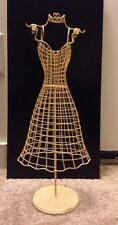 Vintage Wire Mannequin Dress Form Torso  Doll Clothes or Jewelry Display 15 inch