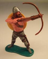 Timpo Toys Wikinger Viking Bogenschütze stehend mit gelbem Schild