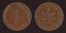 GERMANIA GERMANY 1 PFENNIG 1949 J