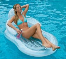Intex Floating Comfort Lounge Inflatable Float Pool Chair Mattress Swimming New