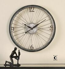 Retro Bicycle Wheel Round Wall Clock | Bike Cycling Industrial