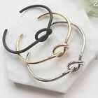 New Women Fashion Style Gold Silver Black Bangle Cuff Bracelet Jewelry Gift